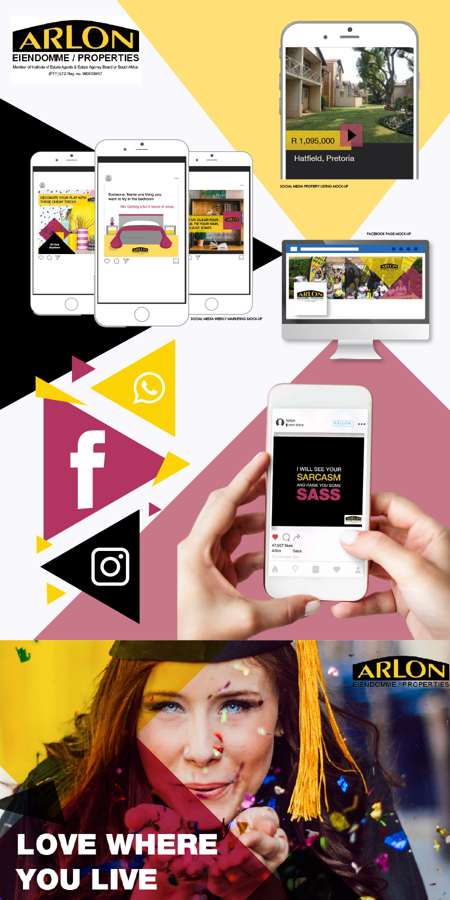 gazzaroo website design branding socialmediamanagement arlon properties social media - Social Media Management