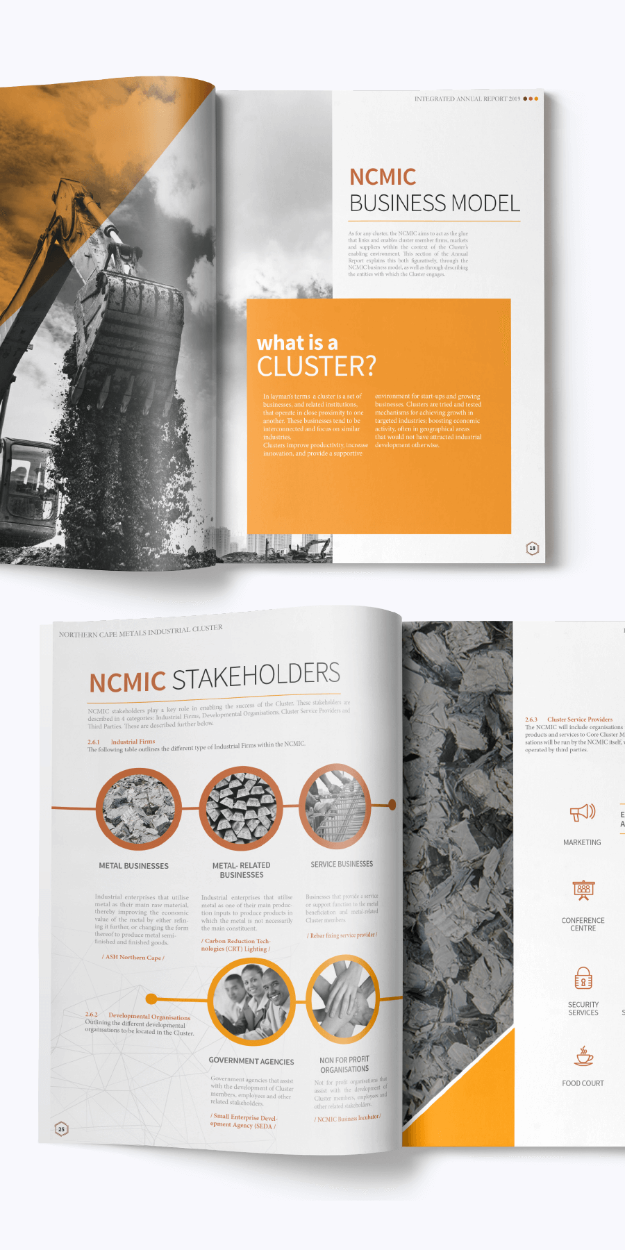 gazzaroo website design branding socialmediamanagement ncmic annual report - Branding & Graphic Design