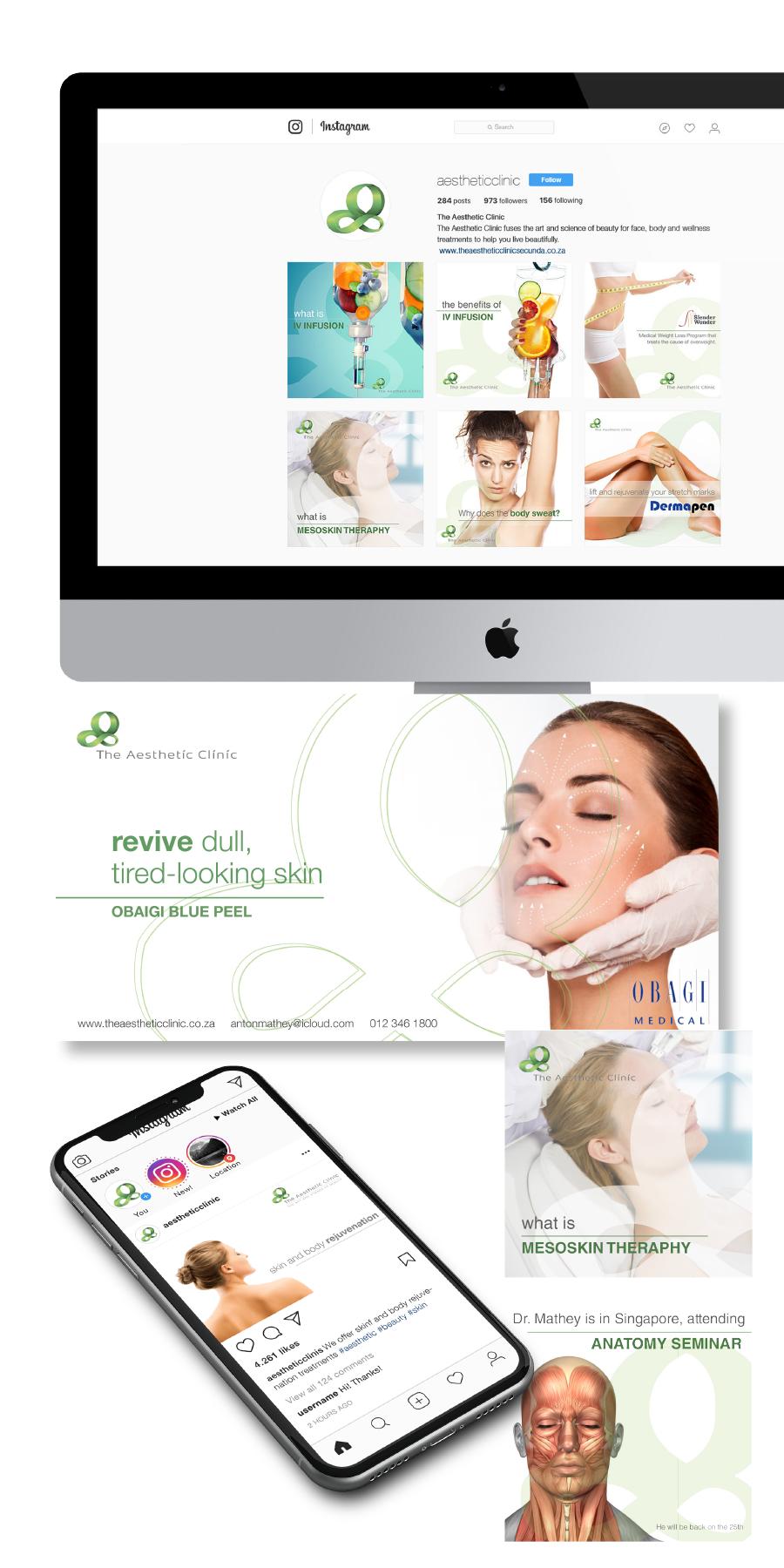 gazzaroo website design branding socialmediamanagement the aesthetic clinic social media - Social Media Management